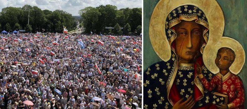 100 mil peregrinan a la Virgen de Czestochowa, advocación amada por San Juan Pablo II